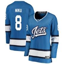 Winnipeg Jets Women's Sami Niku Fanatics Branded Breakaway Blue Alternate Jersey