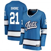 Winnipeg Jets Women's Nick Shore Fanatics Branded Breakaway Blue Alternate Jersey