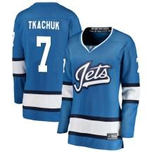 Winnipeg Jets Women's Keith Tkachuk Fanatics Branded Breakaway Blue Alternate Jersey