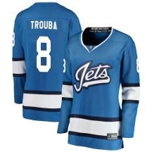 Winnipeg Jets Women's Jacob Trouba Fanatics Branded Breakaway Blue Alternate Jersey
