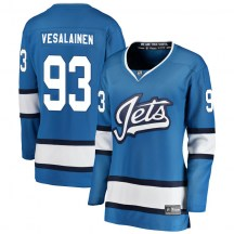 Winnipeg Jets Women's Kristian Vesalainen Fanatics Branded Breakaway Blue Alternate Jersey