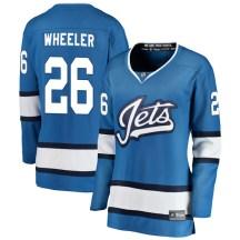 Winnipeg Jets Women's Blake Wheeler Fanatics Branded Breakaway Blue Alternate Jersey