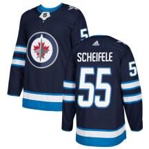 Winnipeg Jets Men's Mark Scheifele Adidas Authentic Navy Jersey
