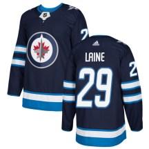 Winnipeg Jets Men's Patrik Laine Adidas Authentic Navy Jersey