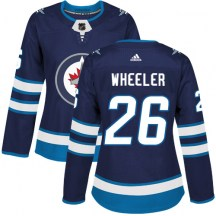 Winnipeg Jets Women's Blake Wheeler Adidas Authentic Navy Blue Home Jersey