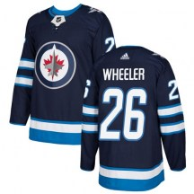 Winnipeg Jets Youth Blake Wheeler Adidas Authentic Navy Blue Home Jersey