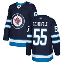 Winnipeg Jets Youth Mark Scheifele Adidas Authentic Navy Blue Home Jersey
