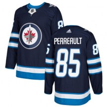 Winnipeg Jets Youth Mathieu Perreault Adidas Authentic Navy Blue Home Jersey