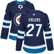 Winnipeg Jets Women's Nikolaj Ehlers Adidas Authentic Navy Blue Home Jersey