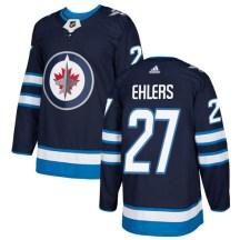 Winnipeg Jets Youth Nikolaj Ehlers Adidas Authentic Navy Blue Home Jersey