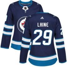 Winnipeg Jets Women's Patrik Laine Adidas Authentic Navy Blue Home Jersey