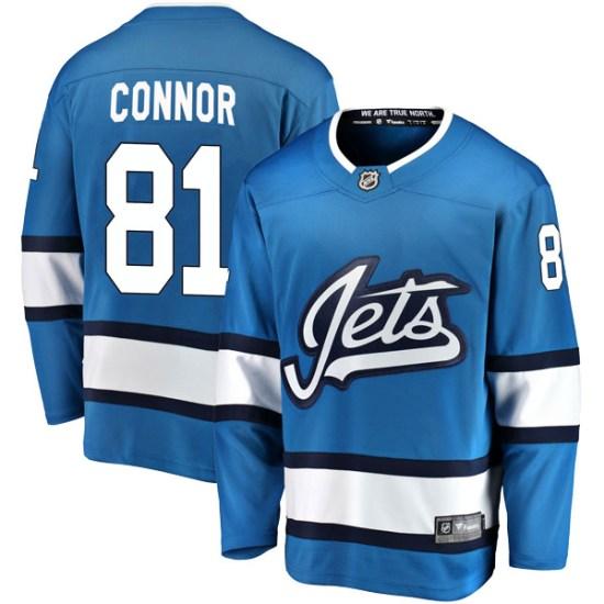 Winnipeg Jets Men's Kyle Connor Fanatics Branded Breakaway Blue Alternate Jersey