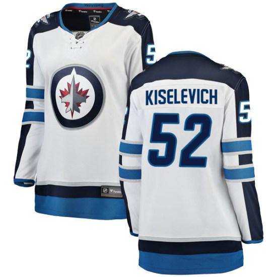 Winnipeg Jets Women's Bogdan Kiselevich Fanatics Branded Breakaway White Away Jersey