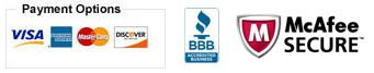 Accept Visa, Master, JCB, American Express/PLAT